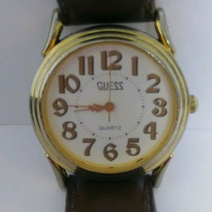 Vintage Lrg faced Unisex 1990 Guess Watch